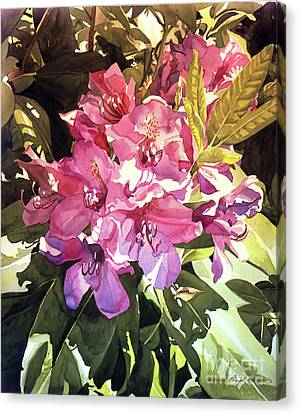 Royal Rhododendron Canvas Print by David Lloyd Glover