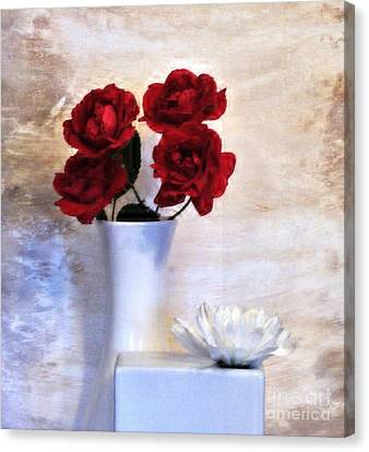 Digital Touch Canvas Print - Royalty Roses by Marsha Heiken