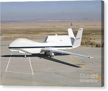 Rq-4 Global Hawk Aircraft Canvas Print by Photo Researchers