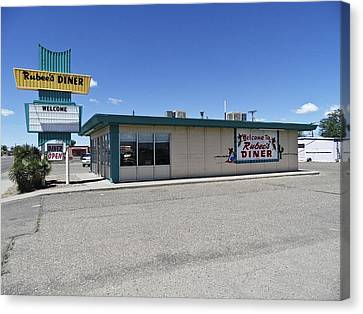 Canvas Print featuring the photograph Rt 66 Rubee's Diner by Paul Plaine