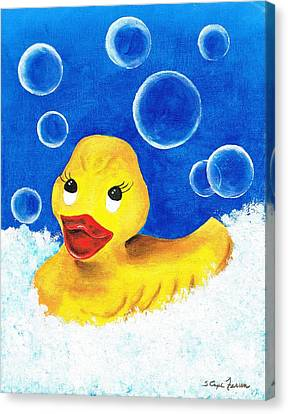 Rubber Ducky Canvas Print by Sarah Farren