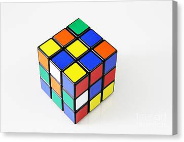 Rubiks Cube Canvas Print by Photo Researchers, Inc.
