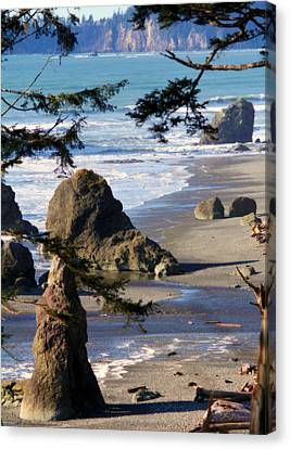 Canvas Print featuring the photograph Ruby Beach Iv by Jeanette C Landstrom