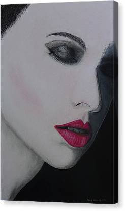 Ruby Lips Canvas Print by David Hawkes