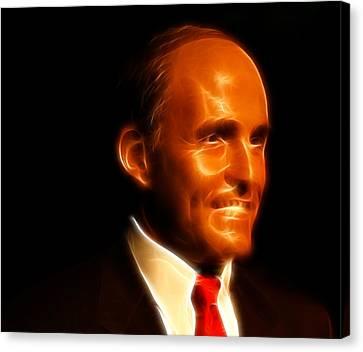 Rudy Giuliani - Rudolph William Louis Giuliani Canvas Print by Lee Dos Santos