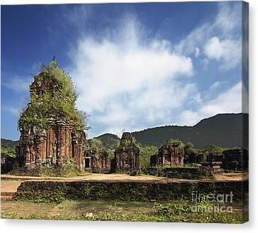 Ruins Of Hindu Temples Canvas Print by Skip Nall
