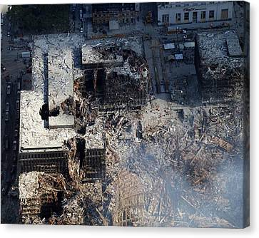 Ruins Of The Collapsed World Trade Canvas Print by Everett