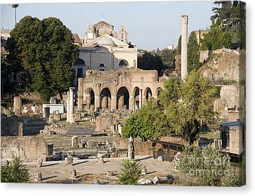 Ruins. Roman Forum Canvas Print by Bernard Jaubert