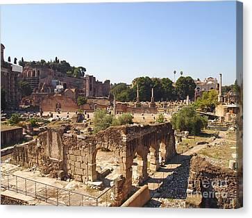 Ruins. Roman Forum. Rome Canvas Print by Bernard Jaubert