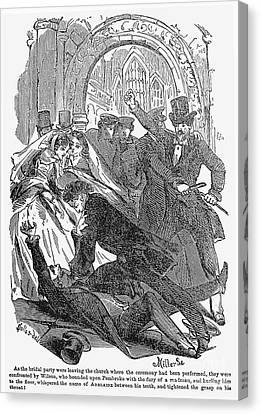 Fistfight Canvas Print - Rulison: The Mock Marriage by Granger