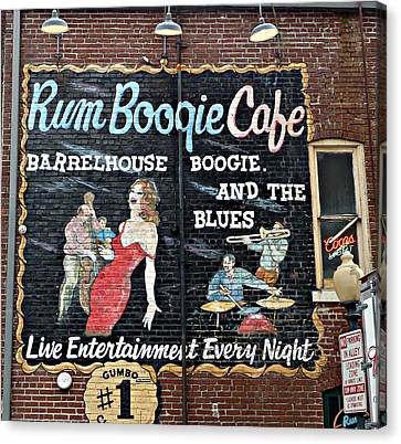Rum Boogie Cafe Canvas Print by Jo Sheehan