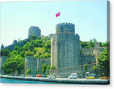 Canvas Print featuring the painting Rumeli Hisar by Lou Ann Bagnall