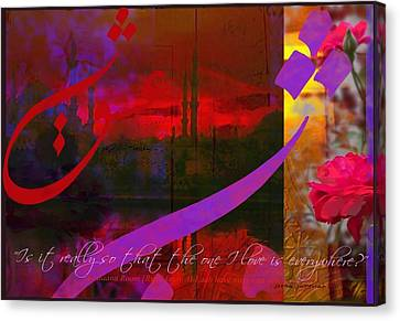 Rumi Rumination-4 Canvas Print by Seema Sayyidah