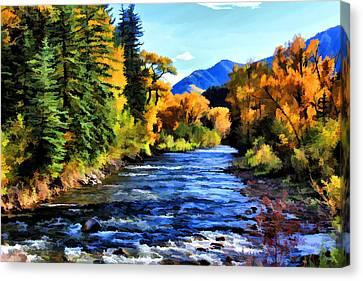 Canvas Print featuring the photograph Run River Run by Brian Davis