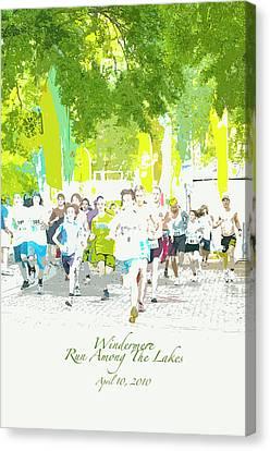 Run Walk Poster Canvas Print by Pete Rems