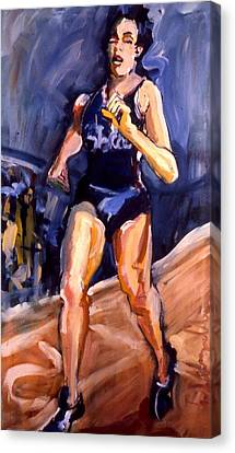 Runner Canvas Print by Les Leffingwell