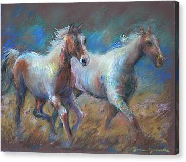 Running Free Canvas Print by Bonnie Goedecke
