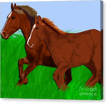 Running Free Canvas Print by Melissa Stinson-Borg