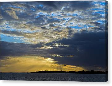 Running Out At Sunset Canvas Print by Gary Eason