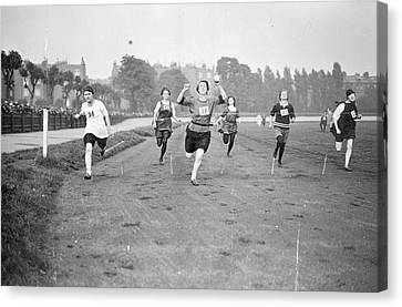 Running Track Race Canvas Print by Topical Press Agency