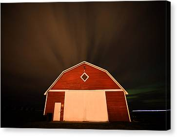 Rural Barn Night Photograhy Canvas Print by Mark Duffy