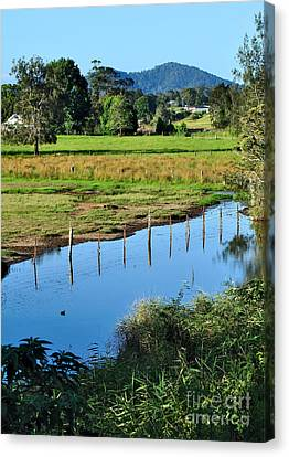 Rural Landscape After Rain Canvas Print by Kaye Menner