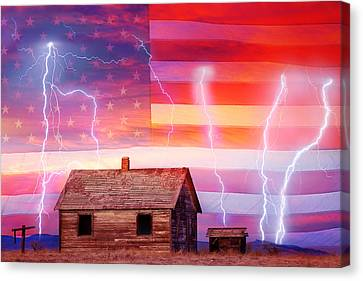 Rural Rustic America Storm Canvas Print by James BO  Insogna