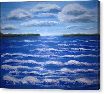 Canvas Print featuring the painting Rush by Bozena Zajaczkowska