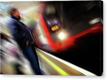 Canvas Print featuring the photograph Rush by Richard Piper