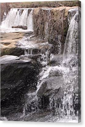 Rushing And Flowing Canvas Print by Michelle H