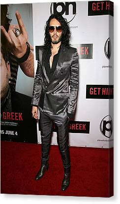 Russell Brand At Arrivals For Get Him Canvas Print by Everett