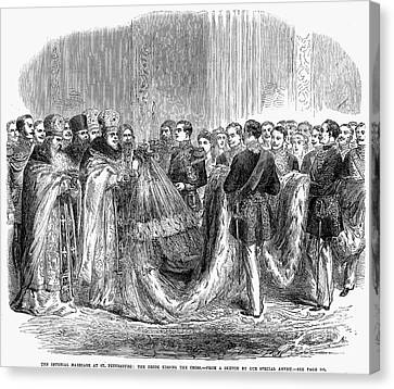 Russia: Royal Wedding, 1866 Canvas Print by Granger