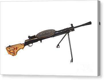 Russian 7.62mm Degtyarev Dp Machine Gun Canvas Print by Andrew Chittock