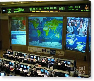Russian Mission Control Center Canvas Print