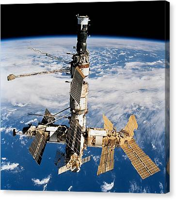 Russian Space Station Mir. Photo Canvas Print by Everett