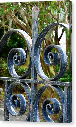 Rusted Charleston Ironwork Canvas Print by Debbie Karnes