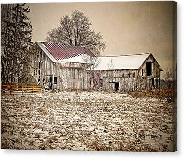 Canvas Print featuring the photograph Rustic Barn by Mary Timman