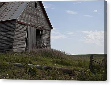 Old Country Roads Canvas Print - Rustic Barn Still Standing by Wilma  Birdwell