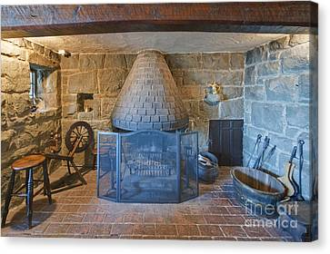 Rustic Fireplace Canvas Print by Rob Tilley
