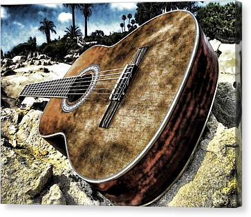 Rustic Guitar Canvas Print by Jason Abando