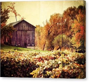 Sepia Vintage Farmhouse Canvas Print - Rustic by Lisa Russo