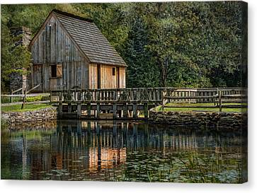 Rustic Reflection Canvas Print by Robin-Lee Vieira