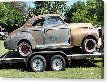 Rusty 1941 Chevrolet . 5d16210 Canvas Print by Wingsdomain Art and Photography