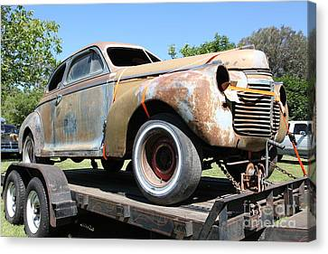 Rusty 1941 Chevrolet . 5d16211 Canvas Print by Wingsdomain Art and Photography