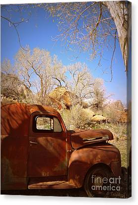 Canvas Print featuring the photograph Rusty Beauty by Tanya  Searcy