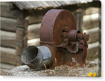 Rusty Blower Canvas Print by JoJo Photography