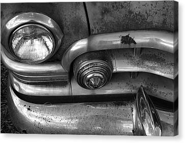 Rusty Cadillac Detail Canvas Print by Lyle Hatch