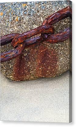 Rusty Chain Canvas Print by Richard Thomas