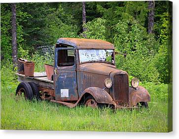 Canvas Print featuring the photograph Rusty Chevy by Steve McKinzie
