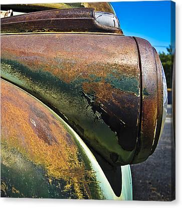 Rusty Dodge Lights Canvas Print